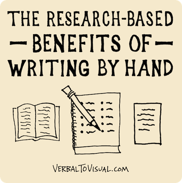 The Research-Based Benefits of Writing By Hand - The Verbal To Visual Podcast - Doug Neill