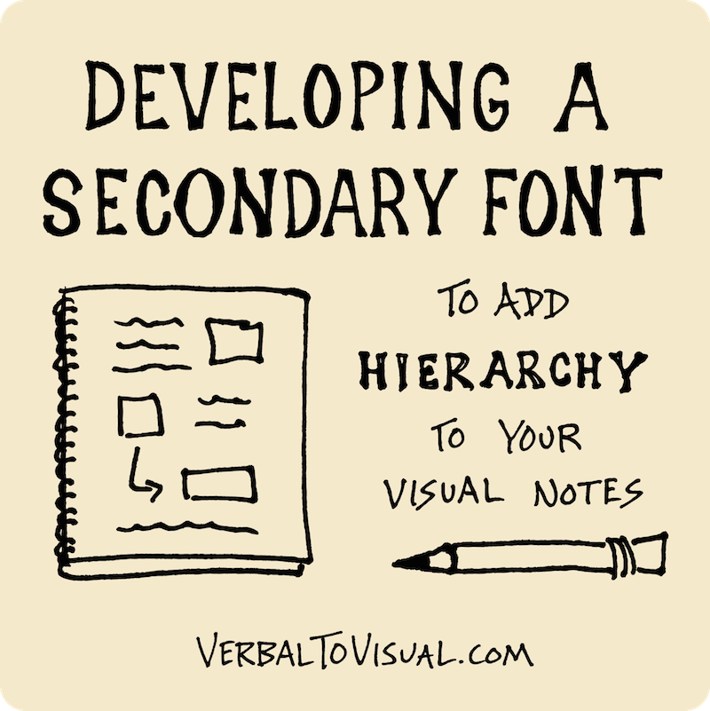 Developing A Secondary Font To Add Hierarchy To Your Visual Notes