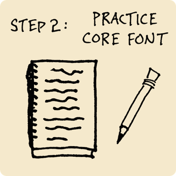 Step 2: Practice Your Core Font