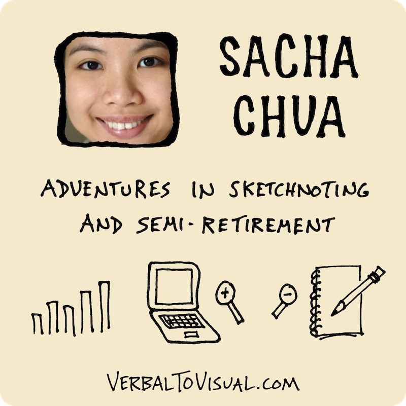 Sacha Chua Adventures In Sketchnoting And Semi Retirement - The Verbal To Visual Podcast