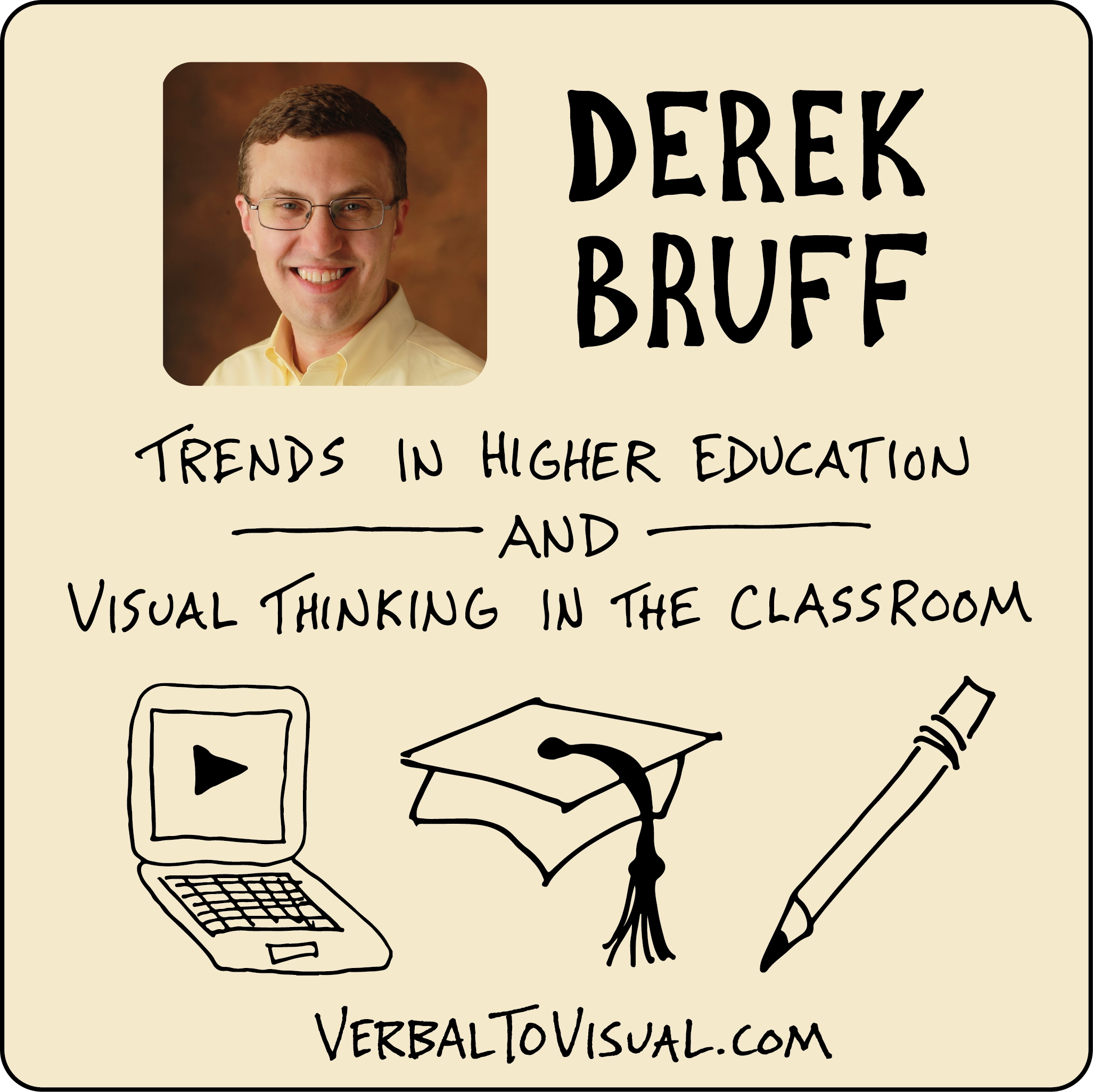 The Verbal To Visual Podcast - Derek Bruff - Trends in higher education and visual thinking in the classroom
