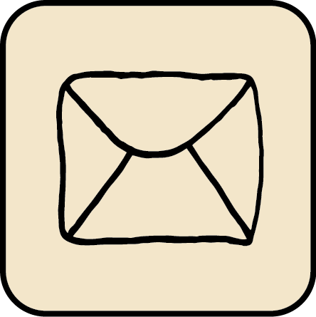 verbal to visual sketched email icon
