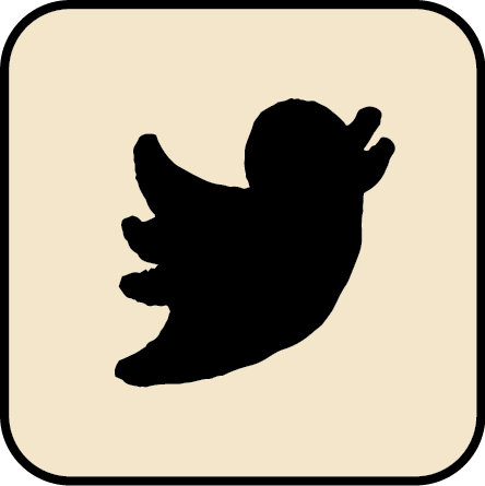 verbal to visual sketched twitter icon