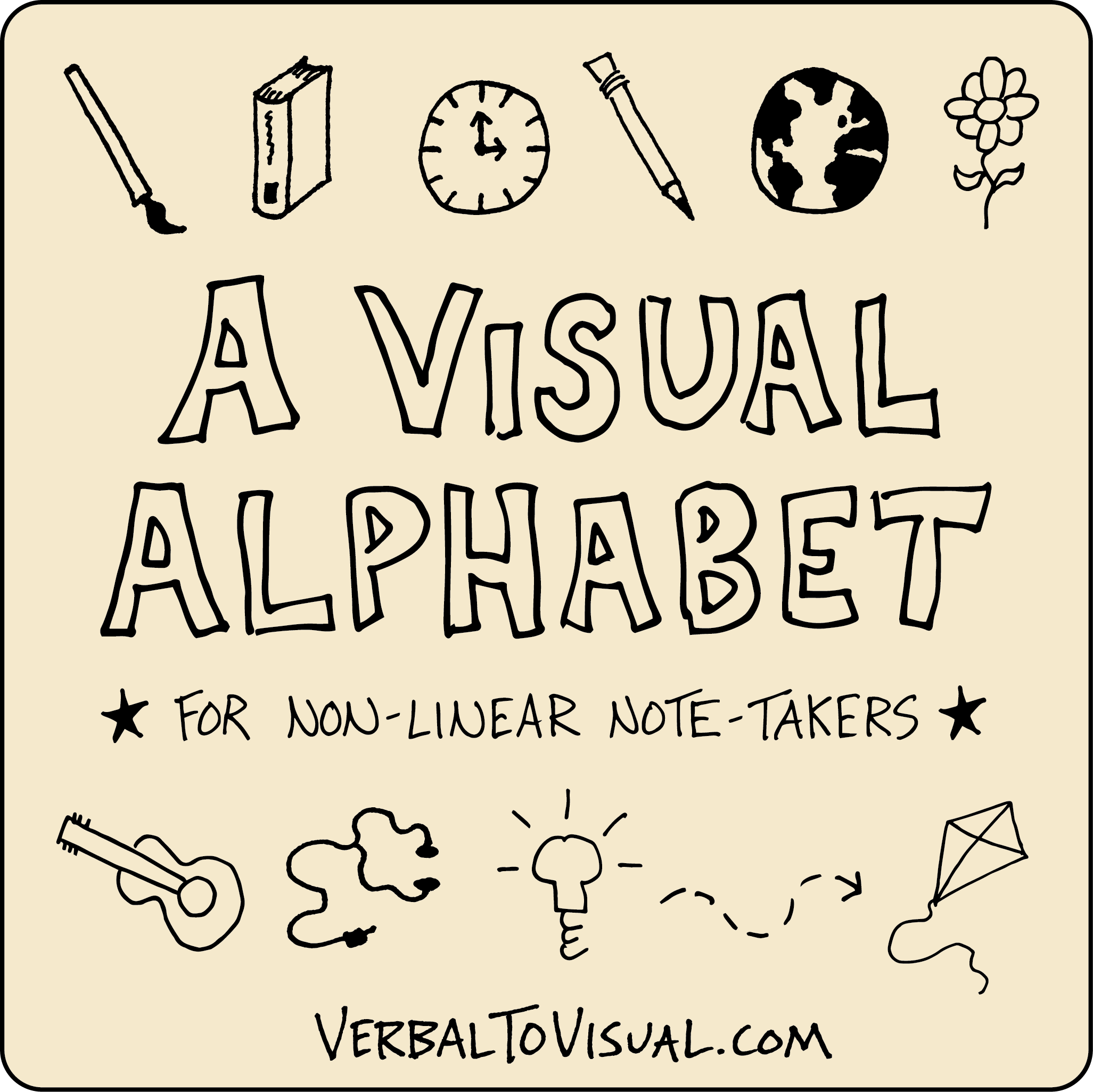 D is for drawing - a visual alphabet for non-liner note taking - verbal to visual - doug neill