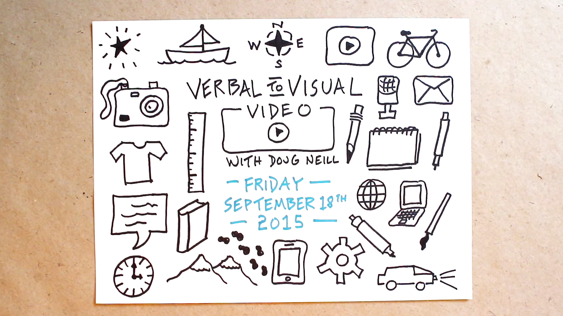 Fill A Page With Icons Full - Verbal To Visual Video - Doug Neill