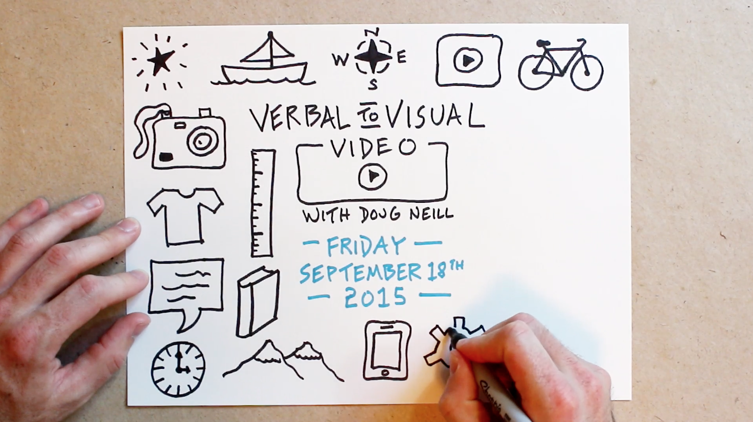 Page Full Of Icons - Verbal To Visual - Doug Neill - sketchnoting, doodling, visual note-taking