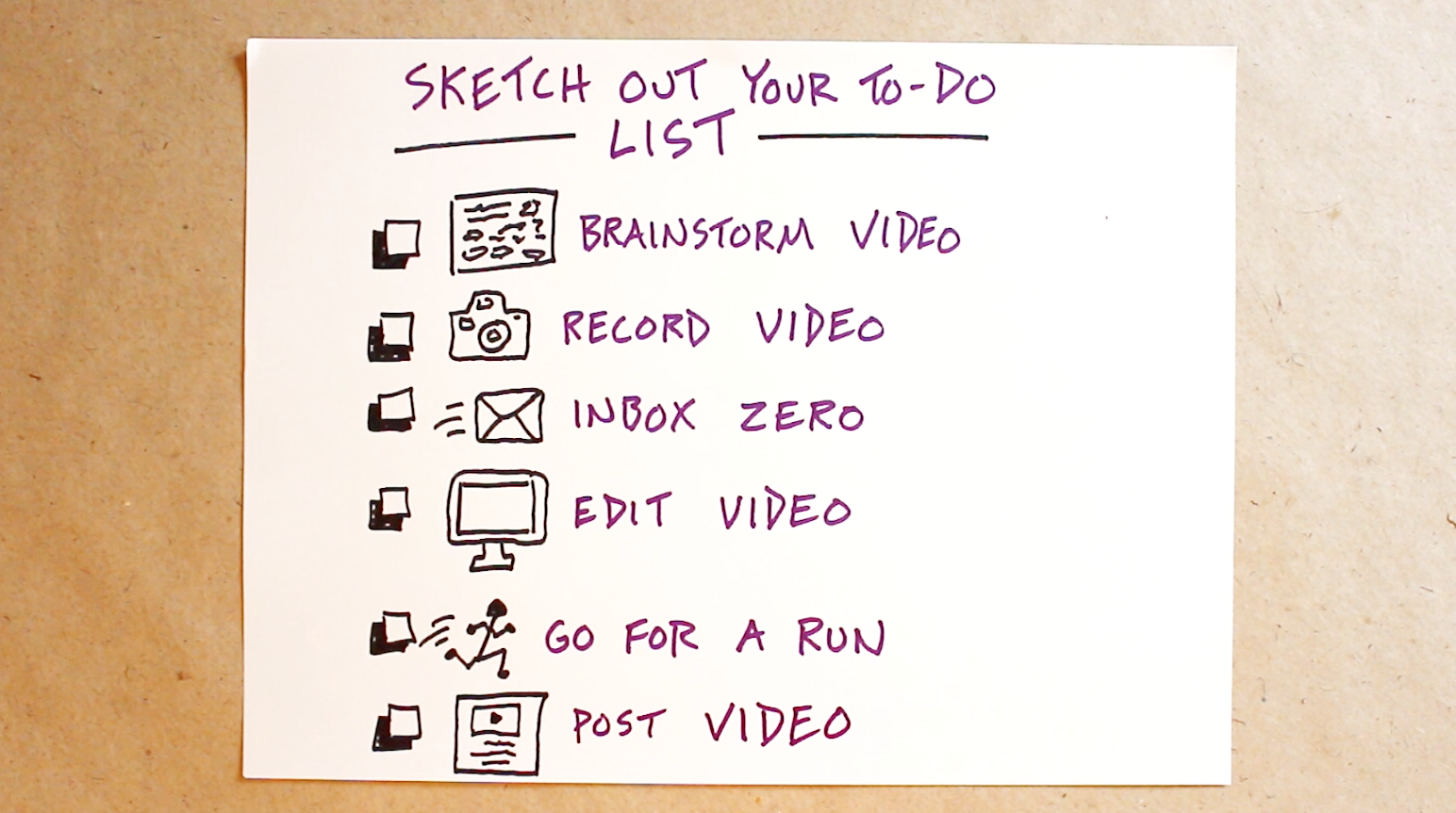 sketch out your to do list verbal to visual video doug neill