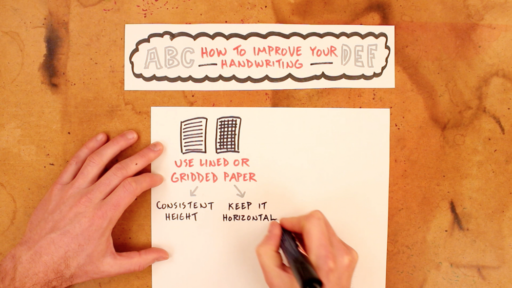 How To Improve Your Handwriting - Sketchnote School - Verbal To Visual - Doug Neill - Featured
