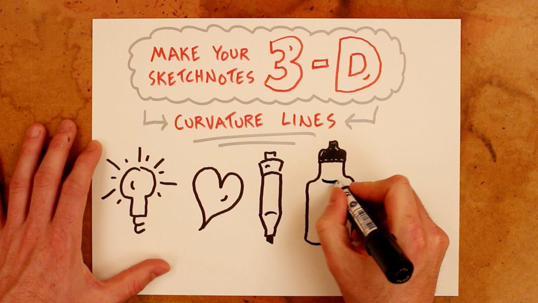 Make Your Sketchnotes 3-D - Verbal To Visual - Doug Neill, visual notes, note-taking, doodling, drawing