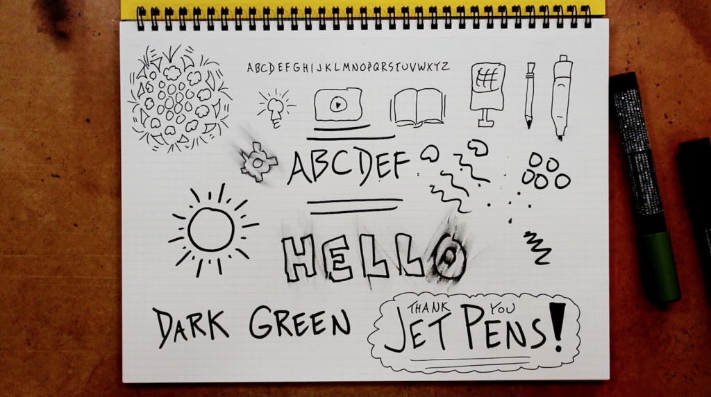 Full Page - JetPens Sketchnoting - Verbal to Visual - Doug Neill