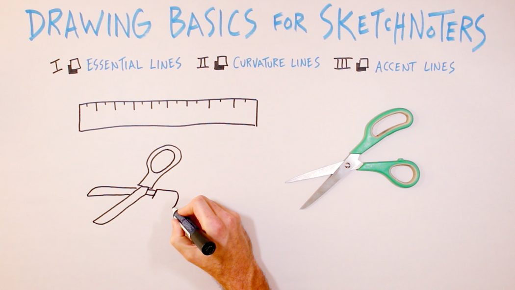 Drawing Basics For Sketchnoters - verbal to visual, visual note-taking, doodling, doug neill