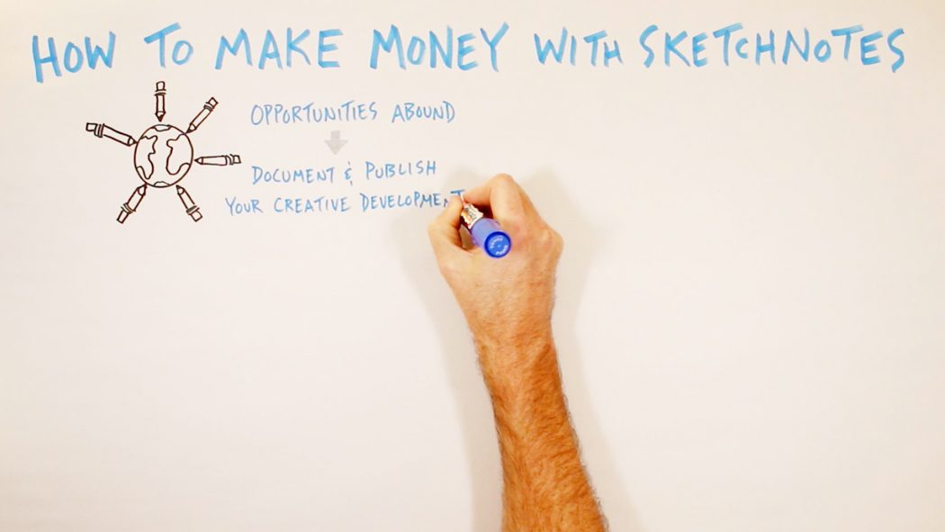 How To Make Money With Sketchnotes - Verbal to visual; doug neill; graphic recording
